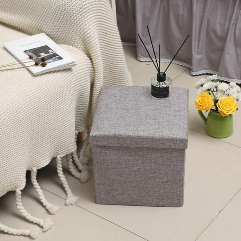 Couleur Pure enfants pliant Lidded boîte de rangement anti-poussière organisateur Cube panier organisateur pour enfants jouets vêtements livres bureau - 4