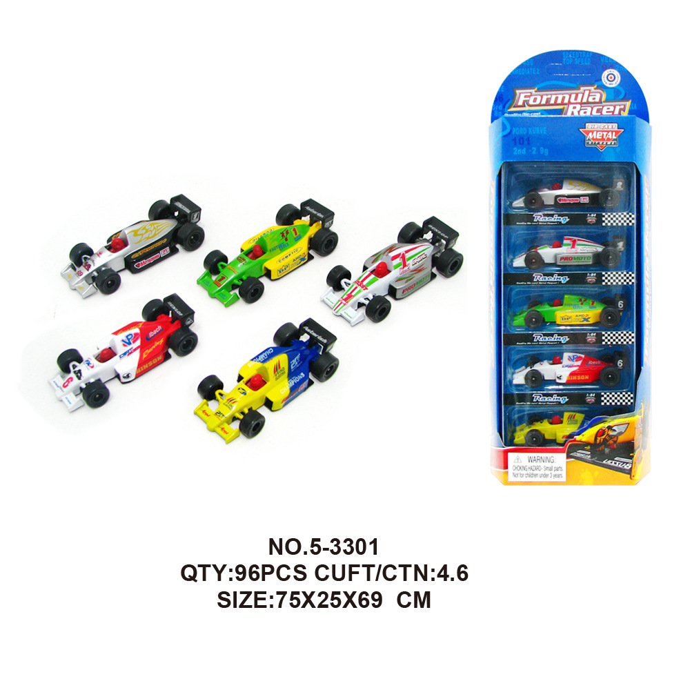 5pcs/lot Alloy Formula 1 Toy Cars 1:64 Car-styling F1 Metal Model Toy Car Cheap-toys Brinquedos Menino Kids Gift Toys for Childr