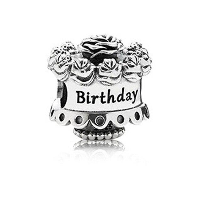 Happy Birthday Cake Thread Charms Fits Pandora Charms Bracelets