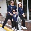 2016 Autumn Cotton Mother Daughter Clothes Sets Casual Family Matching Outfits With Long Sleeve Ladies Clothes sets