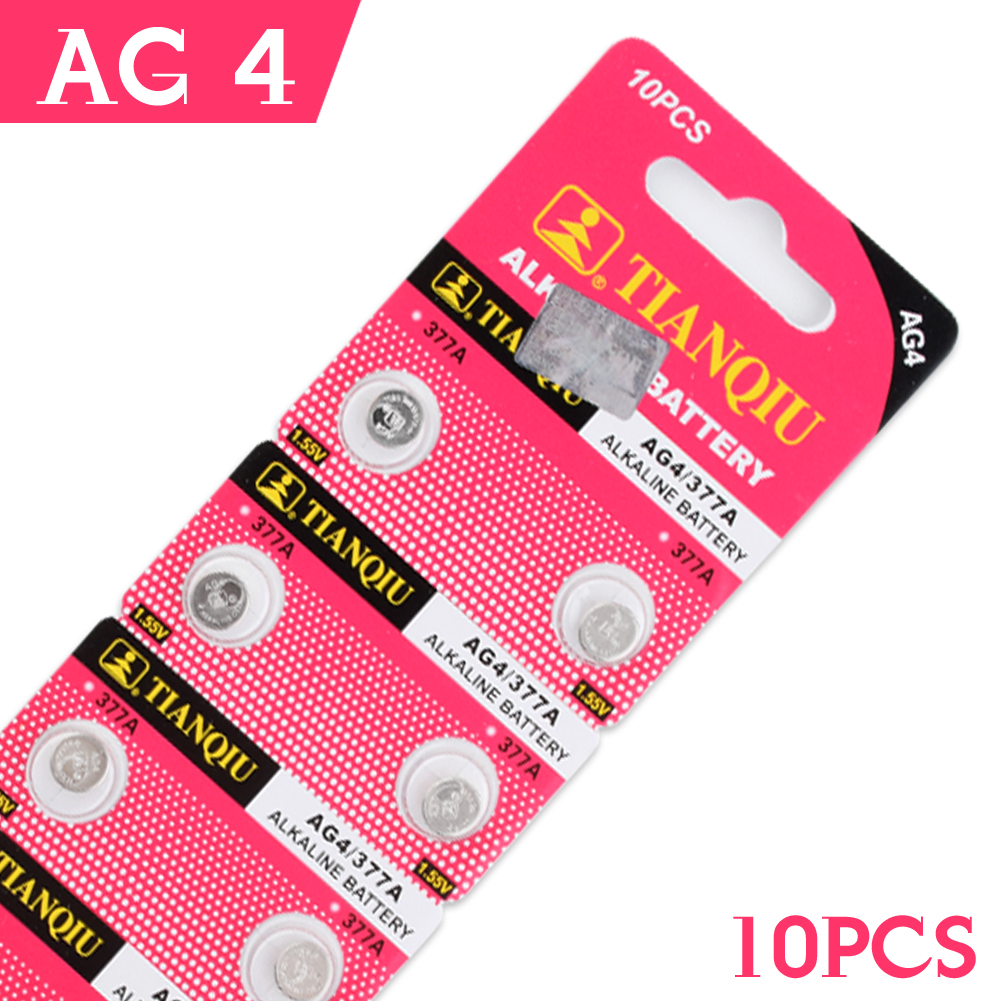 Cheap Real Power Button Battery 10 Pcs 1.55V AG4 LR626 LR66 377 SR626SW 177 Alkaline Batteries Button Cell Coin EE6205 accell replacement 1 5v 26mah ag4 lr626 377 sr626 177 button batteries 10 pcs
