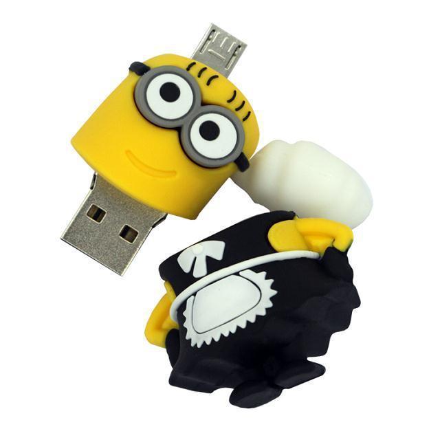 100 pçs/lote dos desenhos animados unidade Flash USB OTG para o telefone móvel Android PC 4 gb 8 gb 16 gb 32 gb OTG Pen Drive Micro USB disk on key