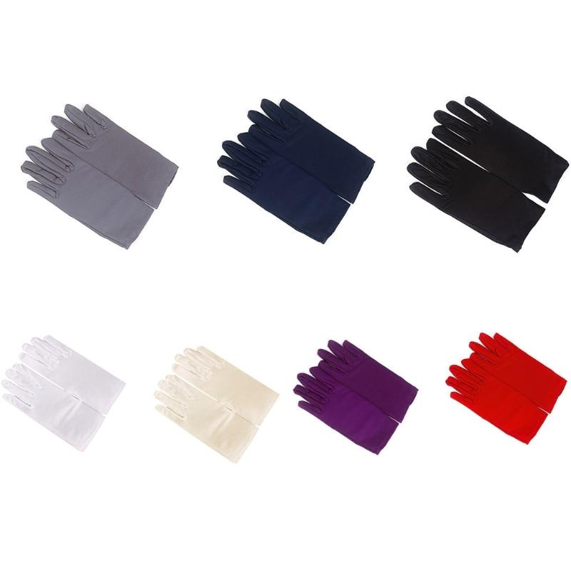 1Pair Spring Summer Nylon Gloves Men Women Unisex Etiquette Thin Short Stretch Elastic Gloves Dance Driving Tight Costume