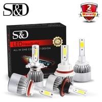 2PCS 80W 8000Lm H4 9003 HB2 Hi Lo Beam Cree LED Headlight Bulbs Conversion Kit DIY