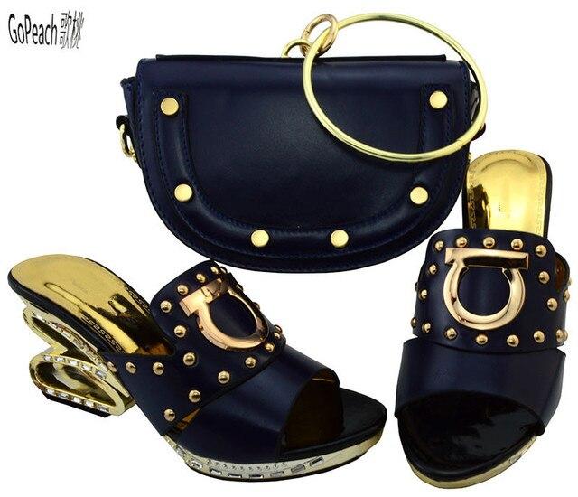 Calidad Juego Las oscuro Para alta Africanos Fiestas y de Bolso A de Azul Mujeres Zapatos 7qdx0T0