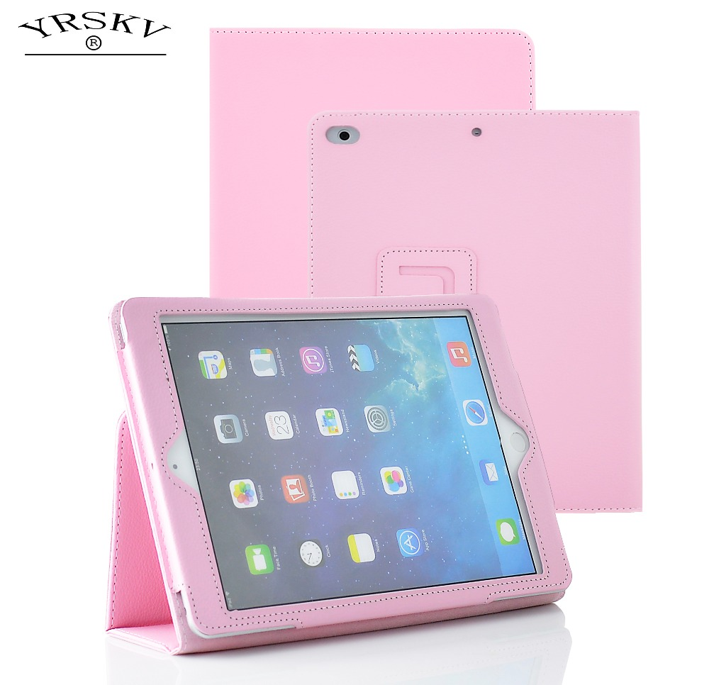 Case for iPad Air/Air 2 / for iPad 9.7 inch 2017 / 2018 YRSKV bracket PU high quality leat