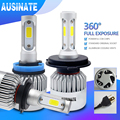 LED H7 H4 H1 H11 Super S2 Canbus Car Headlights Bulb H3 H8 H9 H13 9005 9006 881 LED Fog Light 6500K 72W 8000LM Auto Headlamp