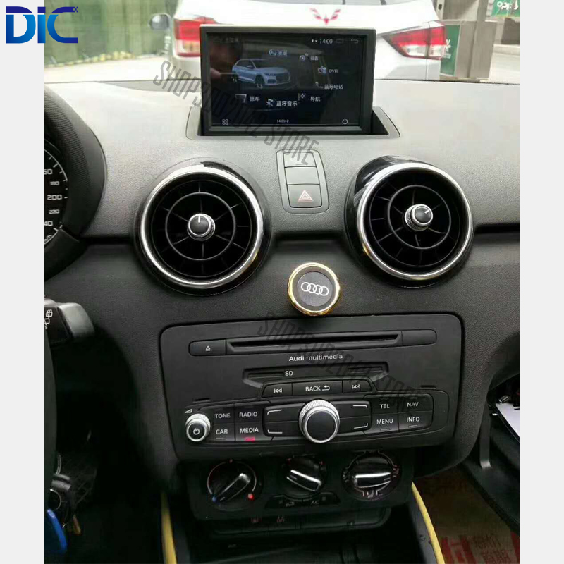DLC Car styling 7 inches android system dual system navigation player mp3 bluetooth steering wheel control For audi A1 2010 2017