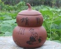 Promotion Sale Seal Tea Caddy Gourd Pot Storage Tea Leaf POTS Free Shipping