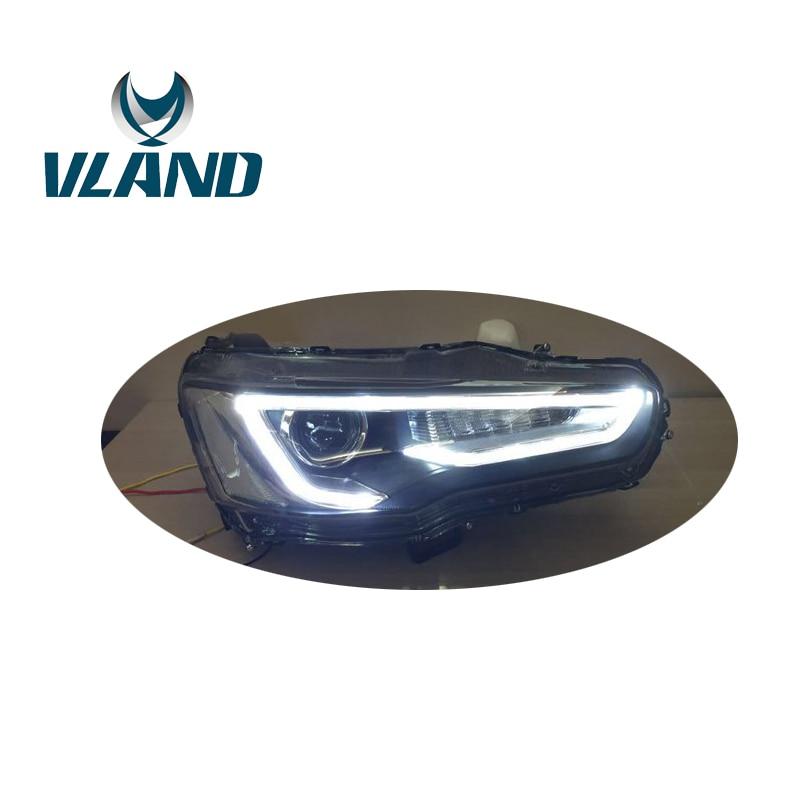 VLAND Phare de Voiture Pour Lancer EX 2008 2009 2010 2012 2015 2016 LED Head Light Avec Bi-Xénon lentille Lancer Evolution EX Phare