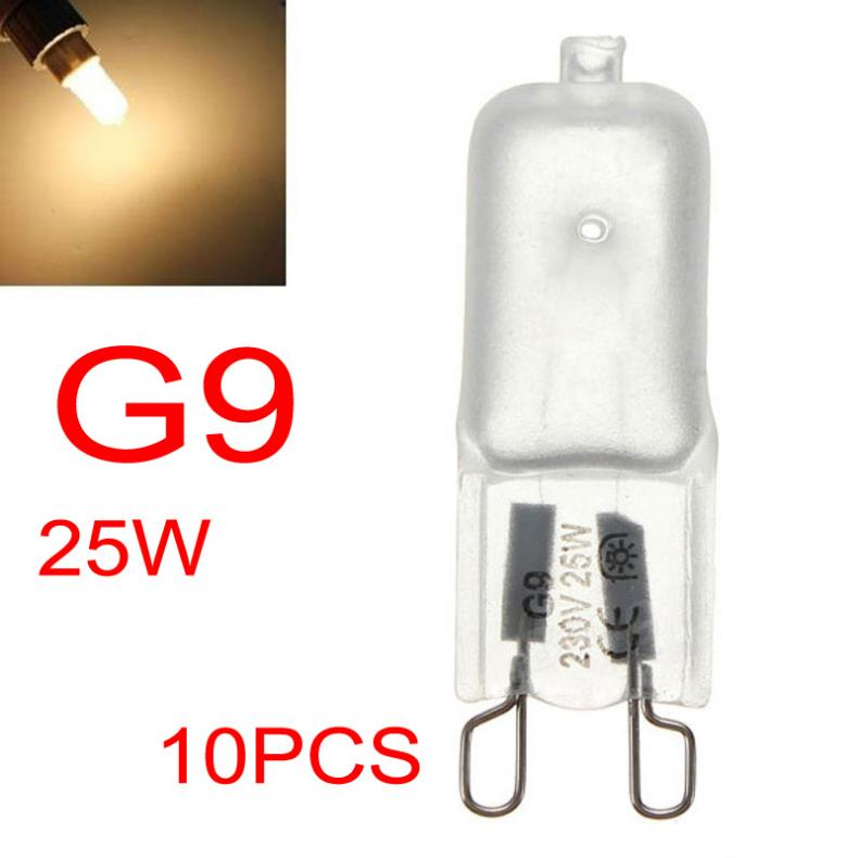 10PCS G9 Halogen Light Bulbs 230-240V 25W Frosted Dimmable Capsule Lamp Lighting Light Accessorries For Home Bedroom Decoration