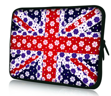 "Uk Flag 12"" Laptop Netbook Notebook Sleeve Case Colorful Bag Cover For 11.6"" Alienware M11x PC(China)"