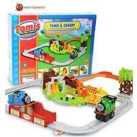 Envío Gratis nuevo Thomas y amigo coche eléctrico vía del tren juguete muy niño regalo aprendizaje y educativos Juguetes para niños