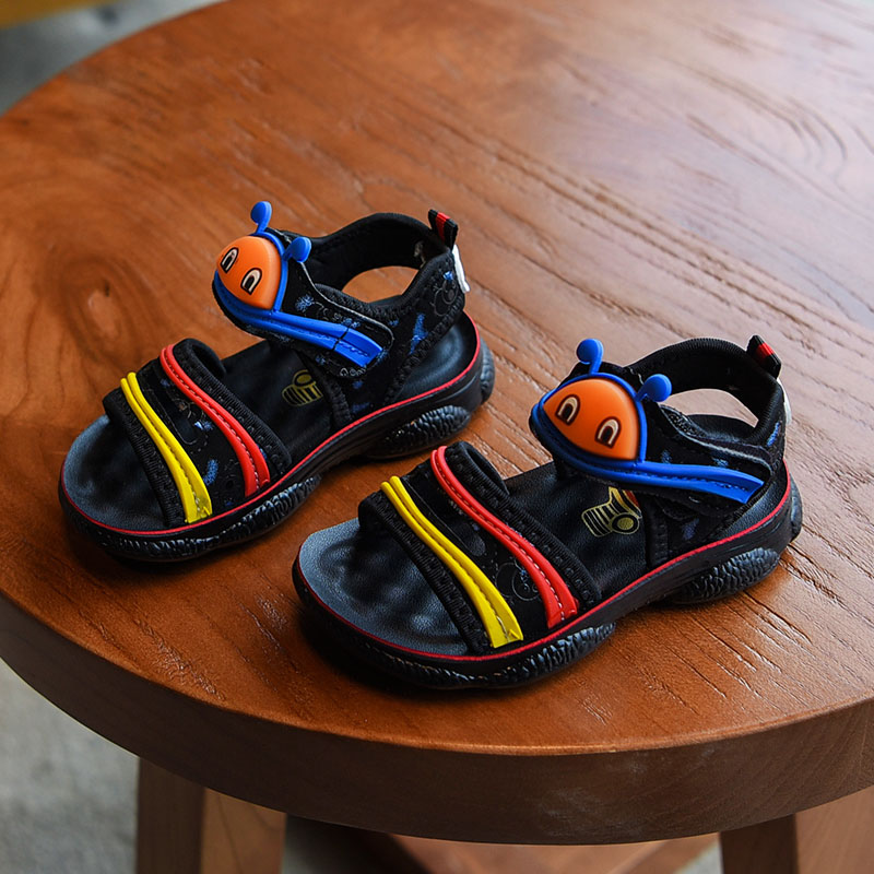 2019 Summer New Boys Fashion Caterpillar Sports Breathable Sandals Toddlers Causal Shoes Kids Black Soft Non-Slip Beach Shoes2019 Summer New Boys Fashion Caterpillar Sports Breathable Sandals Toddlers Causal Shoes Kids Black Soft Non-Slip Beach Shoes