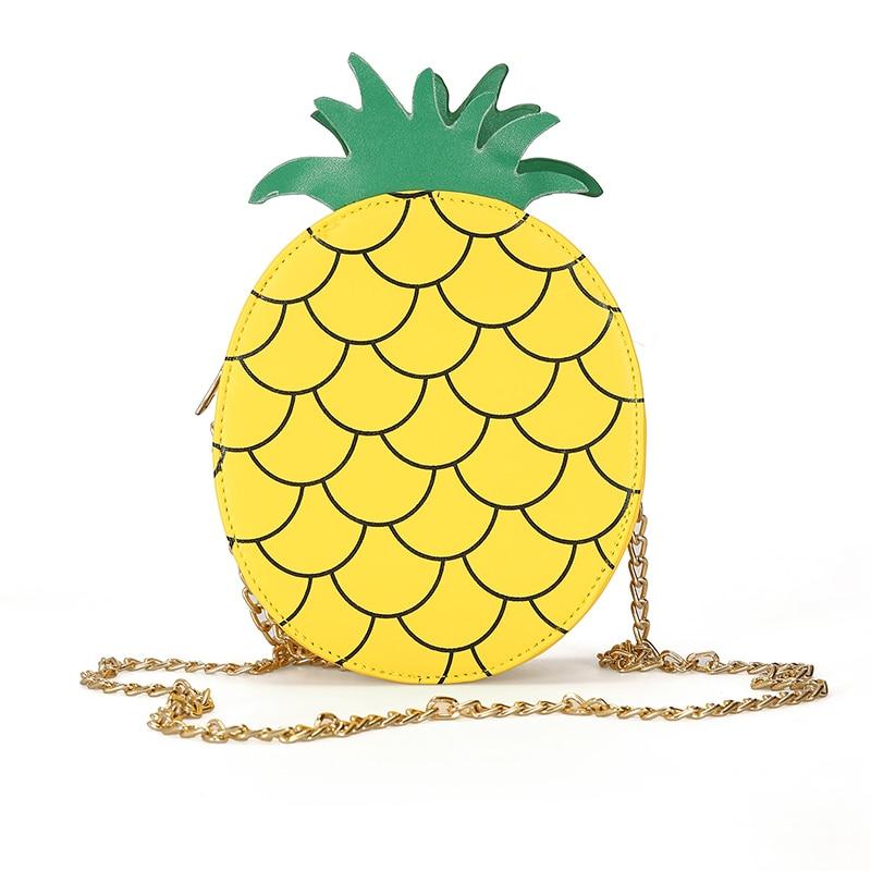 Disegno Di Sacchetto Crossbody Donne Modo Signora Catene Frutta Carino Flap Per Le Chiusura 3d Della Ragazze Solido Lampo Ananas Del Spalla Borse 8BqFIF