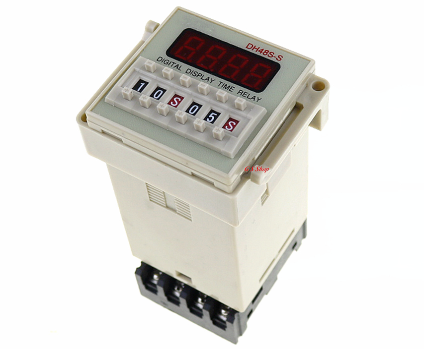 DH48S-S Repeat Cycle Multifunction Digital 0.1S-99H Timer Relay On Delay 8 Pins SPDT 12V 24V 110V 220V ce dh48s s digital timer time delay relay 220v dc 0 1s 99h 8 pins with base socket