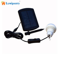 LumiParty SL105 Solar Power Led Bulb 5 LED Camp Light 1W Outdoor Lighting Camp Tent Fishing