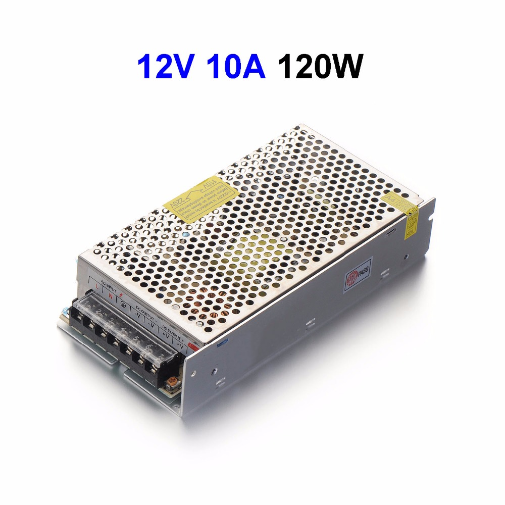 50pcs DC12V 10A 120W Switching Power Supply Adapter Driver Transformer For LED Display LED Controller 5050 LED Modules dc power supply 36v 9 7a 350w led driver transformer 110v 240v ac to dc36v power adapter for strip lamp cnc cctv