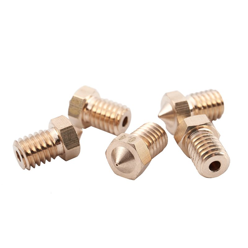 5 Pcs Brass Nozzle For 3D Printer V5&V6 J-Head 3d Printer Parts 3d Sensor Hotend Trianglelab Bltouch Titan Extruder
