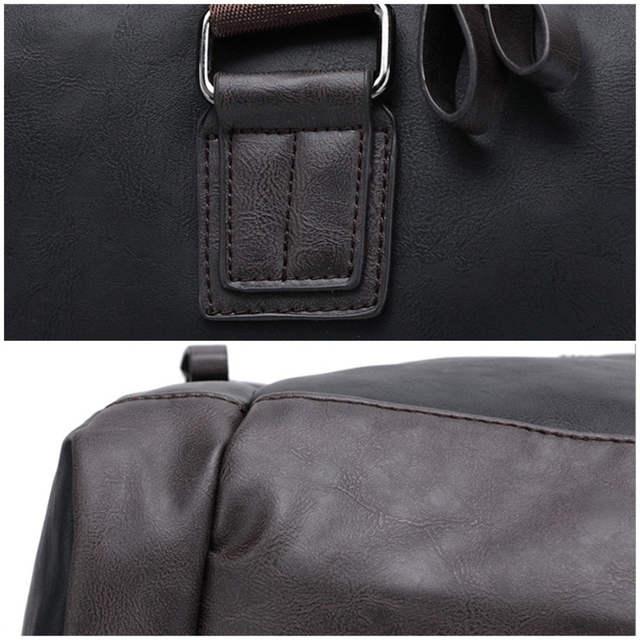 171cefc82c05 Men s PU Leather Sports Bag Duffel Tote Handbags Travel Bag for Gym Fitness  Male Bag Man