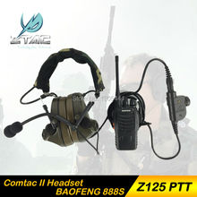 Z 041 Earphone Element Z-Tactical Comtac II Headset Airsoft Paintball Hunting Tactical Headset With Z125 PTT With Walkie Talkie
