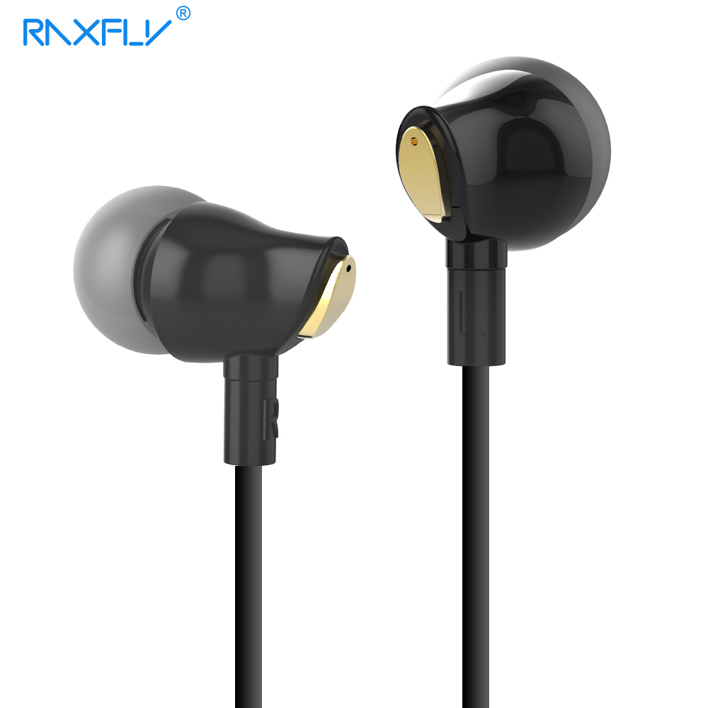 RAXFLY Earphone For iPhone Xiaomi Samsung Huawei 3.5MM Mobile Phone In-Ear Clear Music Earphone Noise Cancel Earbud Microphone
