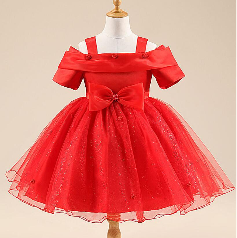 2 10y baby princess bridesmaid flower girls dresses for Wedding party dresses for girl