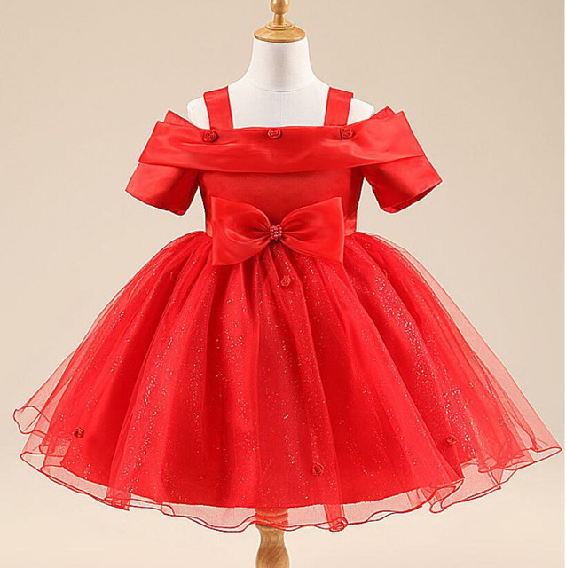 80586f9e0 2 10Y Baby Princess Bridesmaid Flower Girls Dresses Wedding Party ...