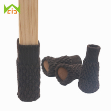 WCIC 4PCS Acrylic Chair Legs Cover Floor Protection Non-slip Table Legs Knitted Furniture Feet Socks Home Furniture Protector cheap Plastic Furniture Leg chair socks 4 Pcs Lot Coffee furniture legs legs for furniture legs for table chair leg caps legs furniture
