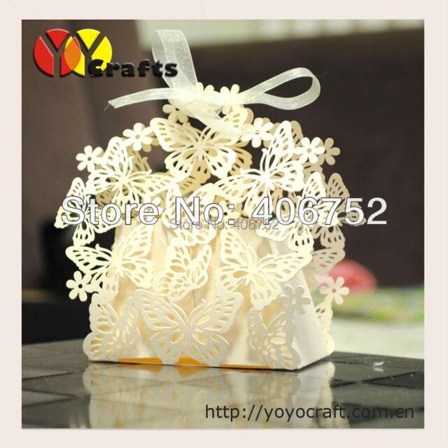 Pearl Paper Ivory Color Wedding Favor Boxeslaser Cut Bridal Shower