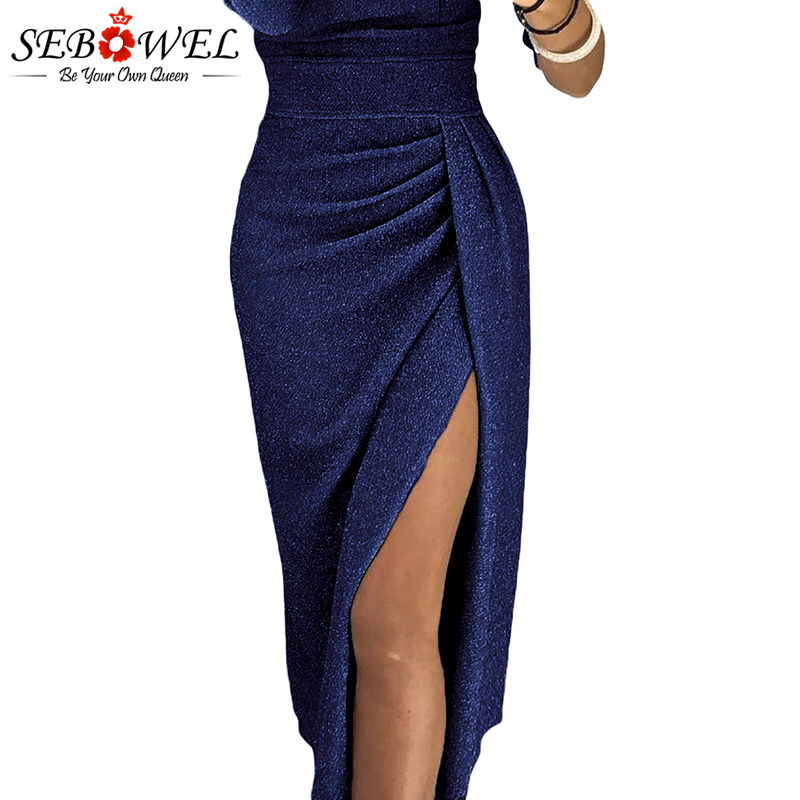 2019 Sexy Metallic Glitter Off Shoulder Bodycon Party Dress Women ... 45ba1cf55d6c