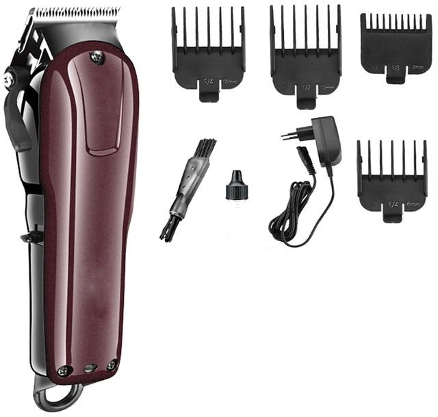 Tondeuse électrique professionnelle puissante sans fil réglable tondeuse rasoir rasoir coupe de cheveux avec peigne limite