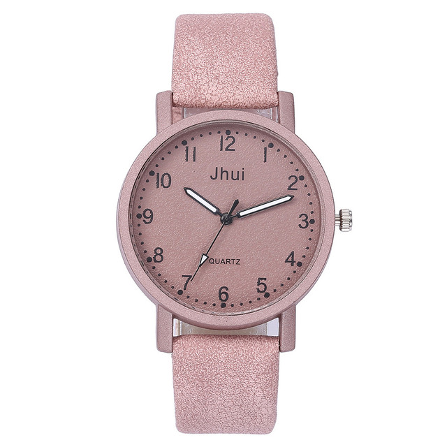 Pink Women's Watches Fashion Leather Quartz Wrist Watch Female Watch Ladies Watc