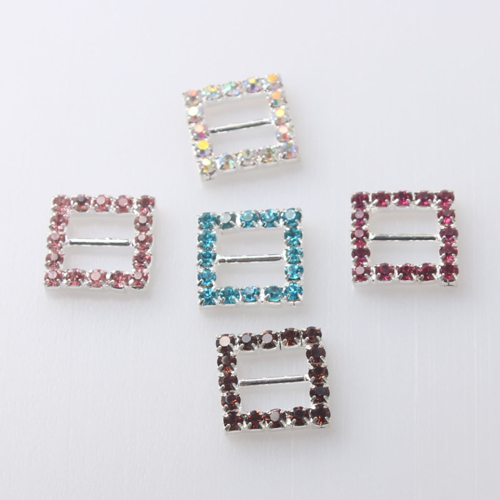 Apparel Sewing & Fabric 2018 Rushed Promotion 15mm Rectangle Shape Buckles,eco-friendly Crystal Rhinestone Buckles For Wedding Invitations Chair Sash Warm And Windproof