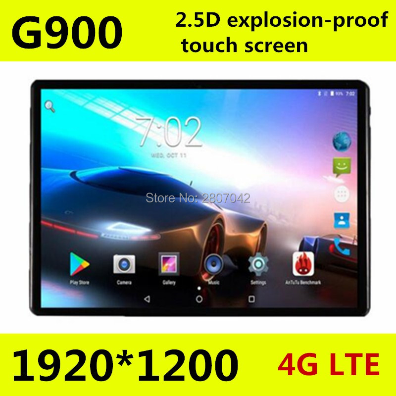 10 pouce Nouveau 2.5D écran 4g LTE tablet pc smartphone Octa core 1920*1200 HD 8.0MP 4 gb 64 gb Bluetooth GPS Android 7.0 pc tablet