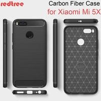 REDTREE Luxury Soft Cases for Xiaomi Mi a1 Mi5x Full Cover Carbon Fiber Smartphone Case for Xiaomi a1 Mi5X Celular Coque Xiomi