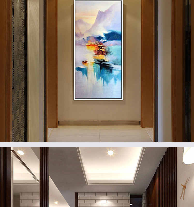 Hand-painted modern home decor room hall wall art picture white orchid flower thick colors  oil painting on canvas