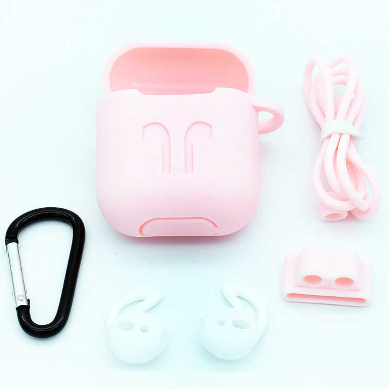 b3e2578b7e3 ... 5 in 1 Silicone Case for Airpods Earphone wireless Bluetooth earphone  sleeve protector cover Shock Proof