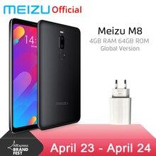 Küresel Sürüm Meizu M8 4 GB 64 GB V8 Cep Telefonu Helio P22 Octa Çekirdek 5.7 ''Ekran Çift Arka kamera 3100 mAh Parmak Izi