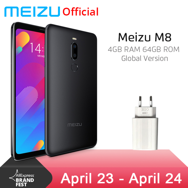 Global Version Meizu M8 4GB 64GB V8 Mobile Phone Helio P22 Octa Core 5.7'' Screen Dual Rear Camera 3100mAh Fingerprint