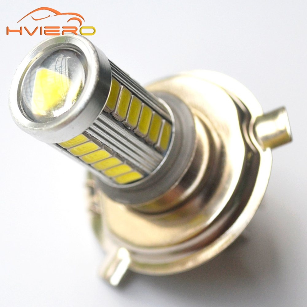 1Pcs 6000K White H4 Car Motorcycle Led Headlight Bulbs 5630 33LED DC 12v Bright Fog Light Bulb Light Daytime Running Light new arrival a pair 10w pure white 5630 3 smd led eagle eye lamp car back up daytime running fog light bulb 120lumen 18mm dc12v