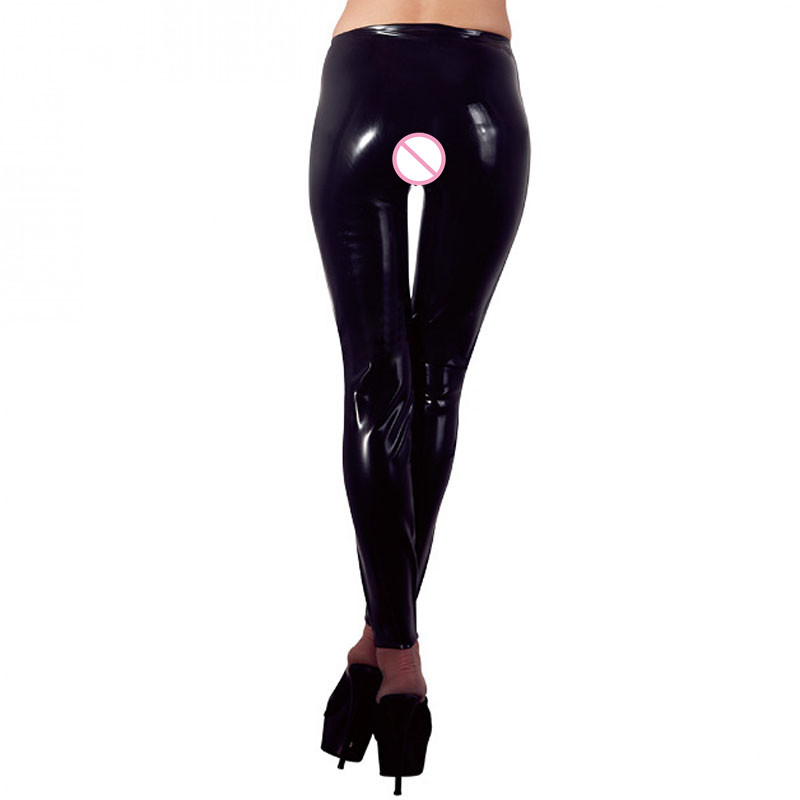 Plus Size XXL Schwarz Sexy Vinyl Leggings Bandage Neuheit Exotic - Damenbekleidung - Foto 3