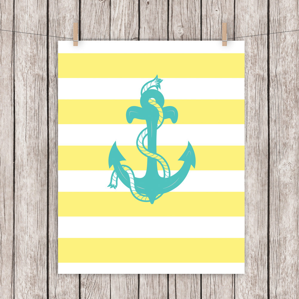 Colorful Anchor Nursery Wall Decor Sketch - All About Wallart ...