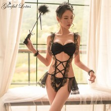 French Lace Maid Costume Teddies Bodysuit
