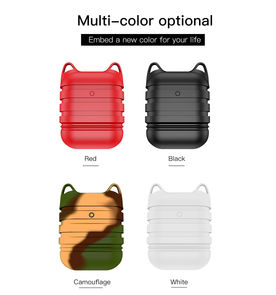 !ACCEZZ Silicone Earphone Case For AirPod Protective Bluetooth Wireless Headset Cover Accessory For Apple Airpods Headphone Box (10)