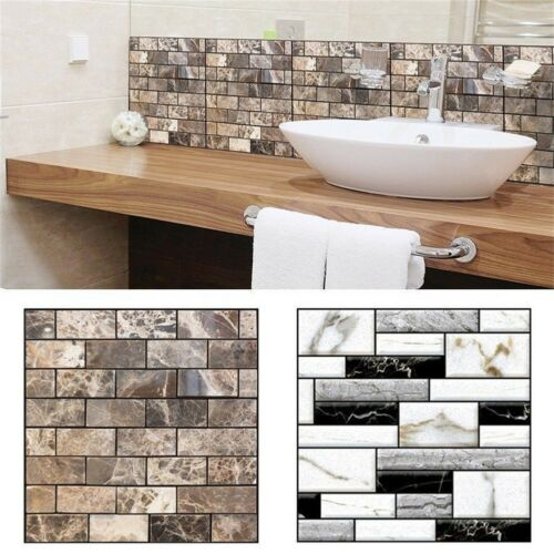 Home Office 3D Brick Waterproof Wall Sticker Self Adhesive Panel Décor Removable-in Wall Stickers from Home & Garden