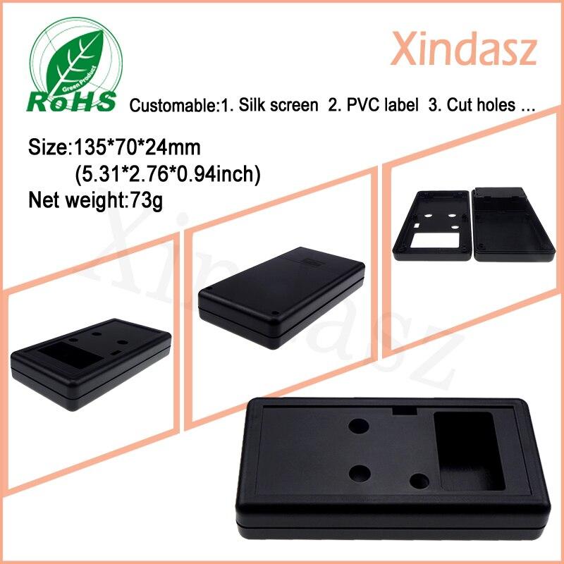 135*70*24mm plastic box electronic enclosure with 45*27mm screen plastic enclosures for electronics plastic case handheld стоимость
