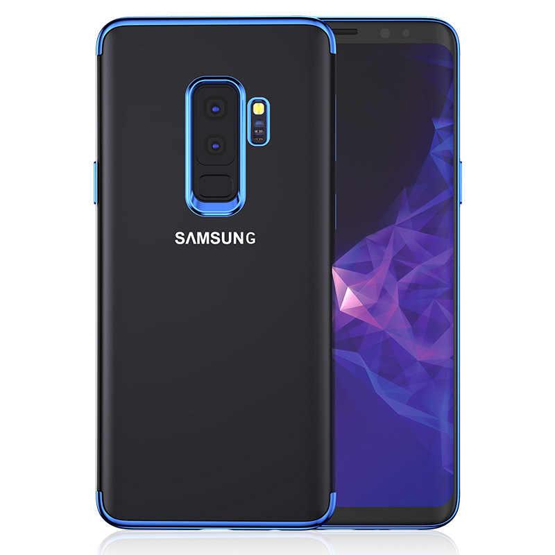 Чистый мягкий чехол для samsung Galaxy S9 S8 плюс S6 S7 край A3 A5 A7 J2 J3 J5 J7 Prime 2016 2017 J6 J8 A6 A8 2018 покрытие TPU Защитный чехол