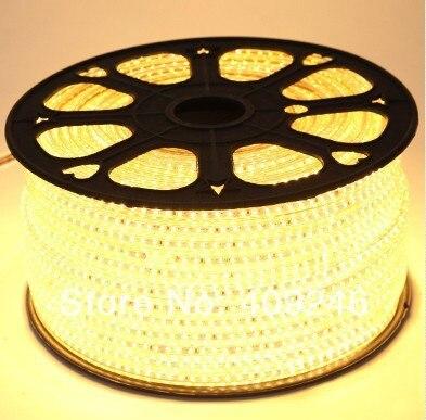 DHLFedEX High voltage 3528 LED strip ribbon tape light 110V 120V warm white led light led lamp 3528 chip+5pcs Plugs