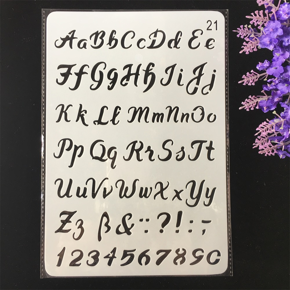 Hot 26cm Alphabet Letters DIY Craft Layering Stencils Painting Scrapbooking Stamping Embossing Album Paper Card Template